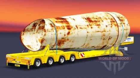 Low-frame Schleppnetzen mit einer Belastung von  für Euro Truck Simulator 2