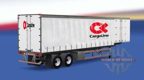 Skins auf einen Vorhang semi-trailer für American Truck Simulator