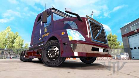 UPS de la peau pour Volvo VNL 670 camion pour American Truck Simulator