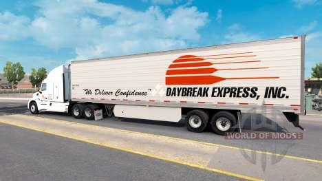 Haut Daybreak Express auf dem trailer für American Truck Simulator