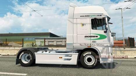 Haut auf Dobbs Logistik-LKW von DAF für Euro Truck Simulator 2