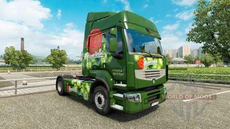 Skins auf dem Tschechischen Bier-LKW Renault für Euro Truck Simulator 2