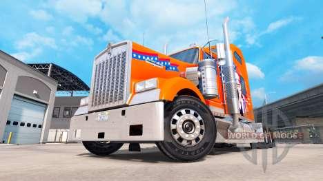 La peau de l'Amérique camion Kenworth W900 pour American Truck Simulator