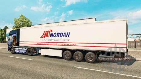 La peau Nordan sur la remorque pour Euro Truck Simulator 2