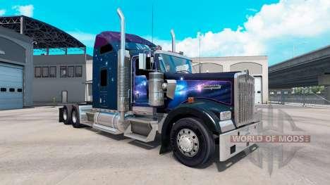 Haut Falling Star auf der LKW-Kenworth W900 für American Truck Simulator