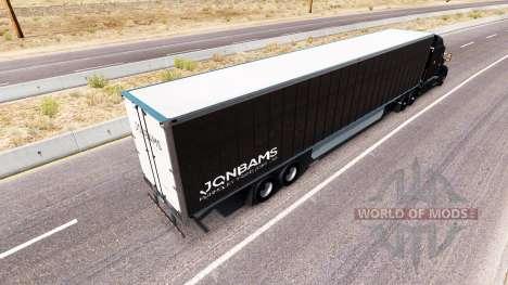 JonBams de la peau pour le camion Peterbilt pour American Truck Simulator