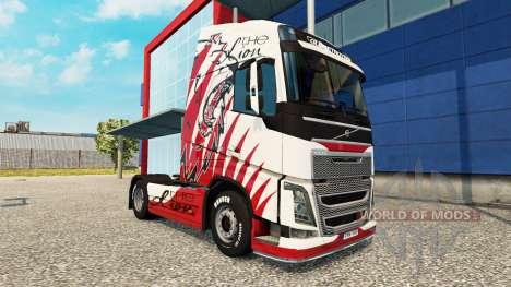 La peau de Lion pour Volvo camion pour Euro Truck Simulator 2