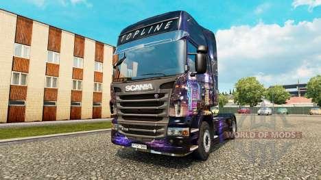 Skyline skin für Scania-LKW für Euro Truck Simulator 2