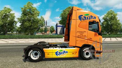 Fanta skin für Volvo-LKW für Euro Truck Simulator 2