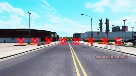 Rouge obstacles pour American Truck Simulator