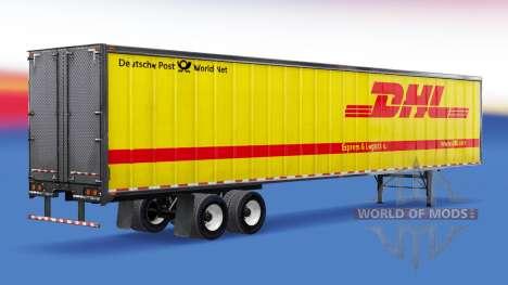 All-Metall-Auflieger DHL für American Truck Simulator