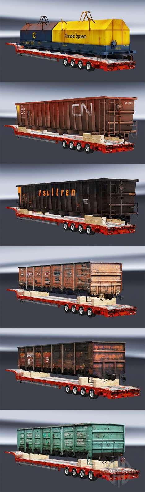 Semi zeleznodoroznyj mit Kompositionen v1.1 für Euro Truck Simulator 2