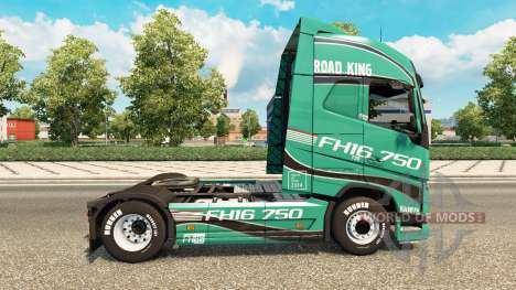 Road King skin für Volvo-LKW für Euro Truck Simulator 2