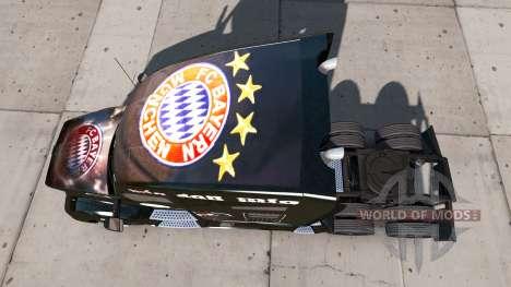La peau FC Bayern Munchen sur un tracteur Kenwor pour American Truck Simulator
