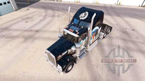 Haut Indianer auf die LKW-Kenworth W900 für American Truck Simulator