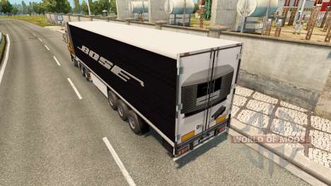 La peau Bose sur la remorque pour Euro Truck Simulator 2