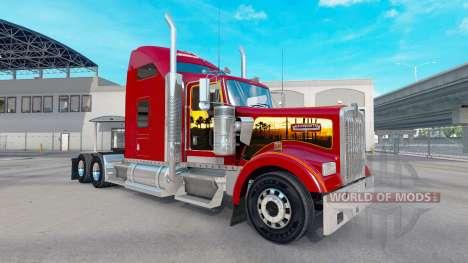 La peau California Dreamin sur le camion Kenwort pour American Truck Simulator