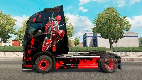 DeadPool skin für Volvo-LKW für Euro Truck Simulator 2