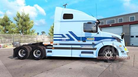 De la peau pour Werner Entreprises tracteur Volv pour American Truck Simulator
