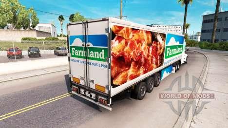 La peau sur les Terres agricoles tracteur Peterb pour American Truck Simulator