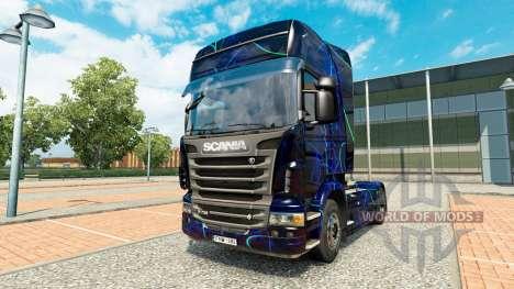 Haut Blauer Rauch auf Zugmaschine Scania für Euro Truck Simulator 2