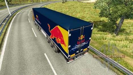 La peau de Red Bull sur la remorque pour Euro Truck Simulator 2