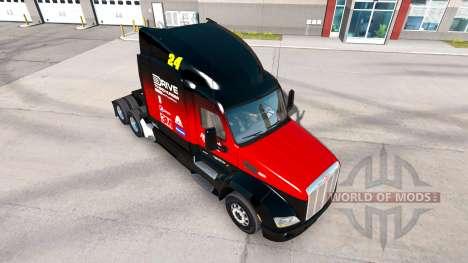 Hendrick de la peau pour le camion Peterbilt pour American Truck Simulator
