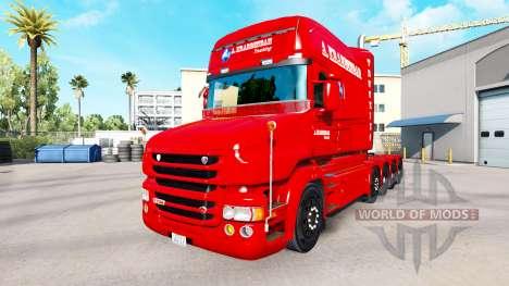 A. Krabbendam de la peau pour camion Scania T pour American Truck Simulator