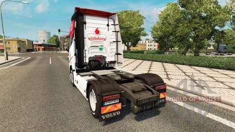 Vodafone peau de compétition pour Volvo camion pour Euro Truck Simulator 2