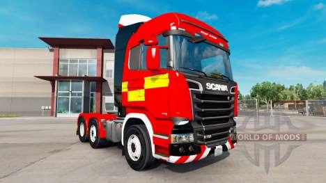 Haut für Feuer-LKW-Zugmaschine Scania R730 für American Truck Simulator