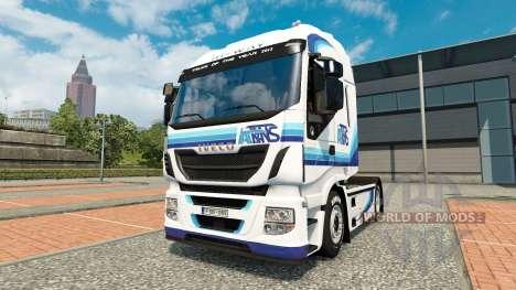 Ital trans peau pour Iveco tracteur pour Euro Truck Simulator 2