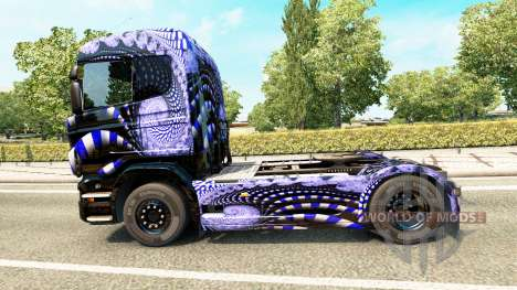 Bleu Échelle de la peau pour Scania camion pour Euro Truck Simulator 2