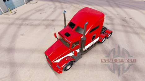 La peau Rayures v4.0 tracteur Kenworth T800 pour American Truck Simulator