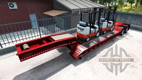 Semi-Trailer mit Haushaltsgeräte von bekannten M für American Truck Simulator