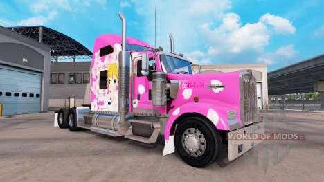 Sakura peau pour le Kenworth W900 tracteur pour American Truck Simulator