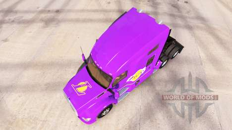 Die Haut Los Angeles Lakers auf Traktor Kenworth für American Truck Simulator