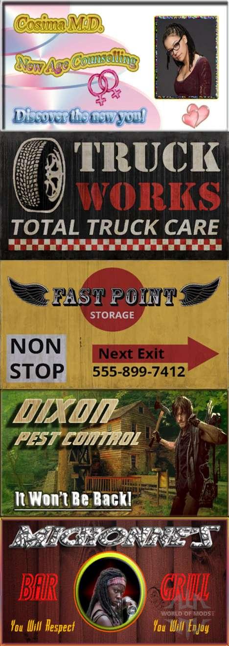 Werbung auf Plakaten für American Truck Simulator
