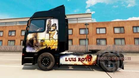Luis Royo peau pour Mercedes Benz camion pour Euro Truck Simulator 2