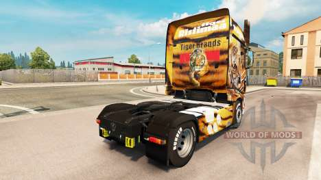 Peau de tigre pour le camion Scania R700 pour Euro Truck Simulator 2