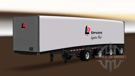 Trailer Mac Vorhang Multiaxles für American Truck Simulator