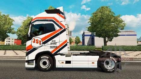 JST Services skin für Volvo-LKW für Euro Truck Simulator 2