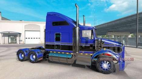 Peau Bleu-noir sur le camion Kenworth T800 pour American Truck Simulator