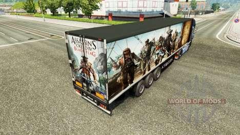 La peau Assassins Creed IV remorque pour Euro Truck Simulator 2
