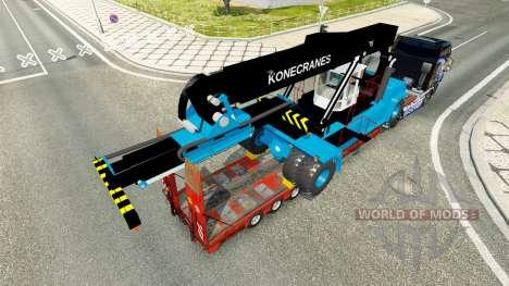 Bas de balayage avec un chariot élévateur, Konec pour Euro Truck Simulator 2