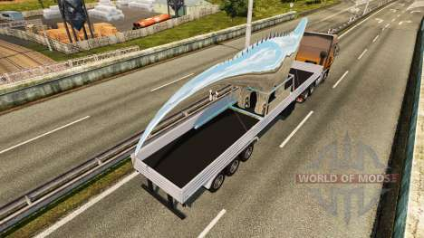 Remorque Statue de Dinosaure pour Euro Truck Simulator 2