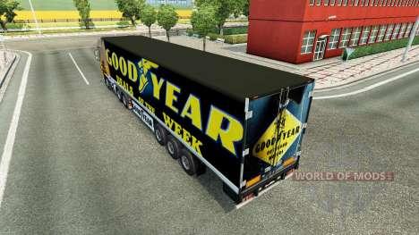 Haut Goodyear auf dem Anhänger für Euro Truck Simulator 2