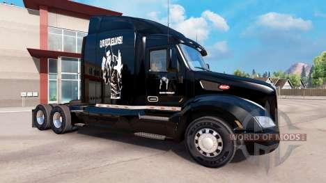 La peau d'Elvis Presley sur le tracteur Peterbil pour American Truck Simulator