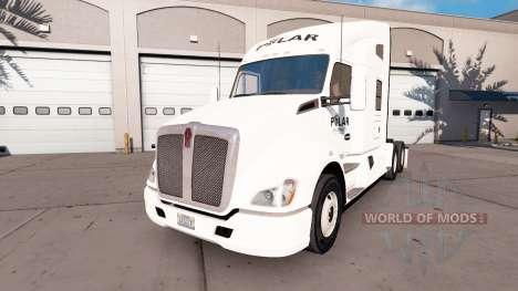 La peau sur un Polar Industries camion Kenworth pour American Truck Simulator
