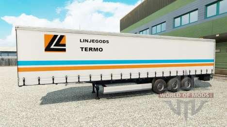 La peau Linjegods sur la remorque pour Euro Truck Simulator 2