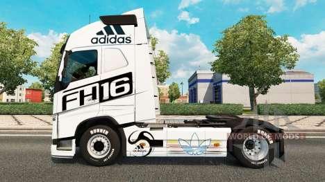 Haut Adidas für Volvo-LKW für Euro Truck Simulator 2